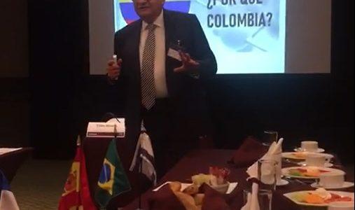 Destacada conferencia de Rafael Nava, VicePresidente de la Cámara México Colombia